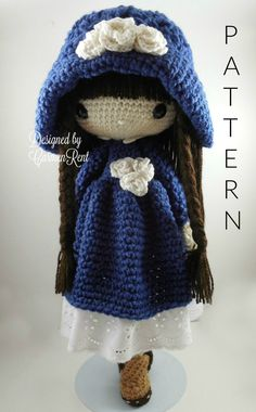 Matilda - Amigurumi Doll Crochet Pattern PDF by CarmenRent on Etsy https://www.etsy.com/uk/listing/489536513/matilda-amigurumi-doll-crochet-pattern
