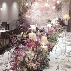 Lavender Wedding Theme, Purple Wedding, Wedding Colors, Wedding Table Decorations, Decoration Table, Flower Decorations, Wedding Images, Wedding Styles, Table Flowers