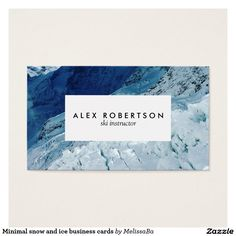 Minimal snow and ice business cards...Make the right impression & impress your customers! Get professional and creative business cards through Zazzle. Visit the link to save 15% on 2 packs OR find out if there are any promotions to help save! >>