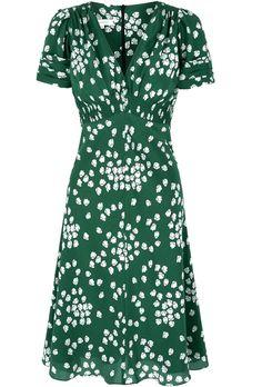 Suzannah Budding heart Silk dress