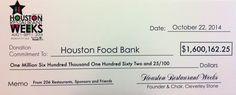Thank you to 206 Houston restaurants, sponsors & friends that made this possible. #HRW See list at http://www.HoustonRestaurantWeeks.com.