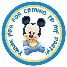 Baby Mickey Mouse Gift Tags