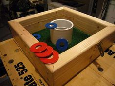 Instructions for how to build a washer game - My Mr. Fix It needs to make one before the camping season begins :) Fun Games, Games To Play, Party Games, Party Fun, Washer Game, Corn Hole, Diy Yard Games, Backyard Games, Garden Games