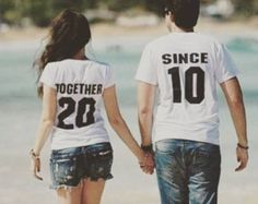 TOGETHER SINCE Custom Couples T-Shirts Anniversary & door GroomSocks