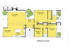Modern Style House Plan - 3 Beds 2 Baths 2360 Sq/Ft Plan #544-3 Main Floor Plan - Houseplans.com