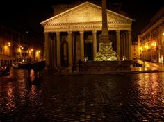 #rome by #night #pantheon