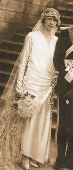 Princess Mafalda of Savoy, Princess of Hesse (1925) wearing the Hesse Wheat tiara.