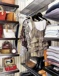 Conquer Your Closet - This will be my weekend project!!!!!!!!  Weekend Decorating Projects - Do It Yourself Home Decor Projects for Weekends - Country Living
