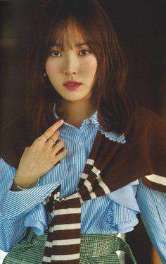 Gfriend Yuju, G Friend, Ruffle Blouse, Seasons, Kpop, Women, Baby, Fashion, Moda