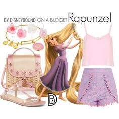 Disney Costumes Disney Bound: Rapunzel from Disney's Tangled (On A Budget Outfit) Disney World Outfits, Disney Bound Outfits Casual, Disney Character Outfits, Cute Disney Outfits, Disney Dress Up, Disney Themed Outfits, Modern Disney Outfits, Character Inspired Outfits, Disney Clothes