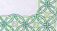 Noeud celtique imprimé broderie à la main motif grand par ravenfrog