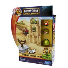 All'interno troverete: 3 personaggi Angry Birds Star Wars (Luke Skywalker, 1 Jabba the Hutt e 1 Rancor maiali), 1 Fionda Millenium Falcon, 12 Blocchi di Costruzione Jenga, 2 dadi da 6 speciali, una scheda e la guida di gioco.