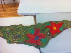 Felt scarf made during our felting workshop, Summer 2014