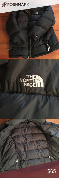 North Face puffer jacket Black North Face puffer jacket. Hip length. Lightly worn. Get it now for next winter! Boys XL, but ladies I wore it and I am size (4-6). North Face Jackets & Coats Puffers