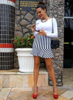 Novidades Na Miss Trendy: Listras E Mais Listras! ( Striped Skirts & Sweaters )