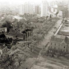 Rua São Luiz (atual avenida São Luiz) em 1939. Fotografia tirada do prédio da biblioteca Mário de Andrade, que ainda estava em obras e só seria inaugurada em 1942.