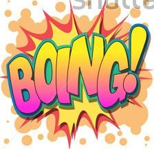 A Selection of Comic Book Exclamations and Action Words: BOING!
