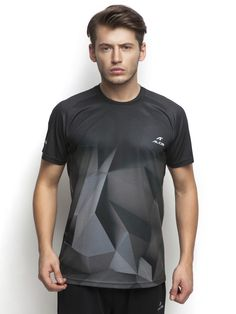 Alcis T-Shirt that optimizes your running performance engineered with  #MoistureWickingDrytechTechnology   #AntiStaticFinish  #360DegreeReflective