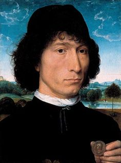 Hans Memling, Portrait of a Man with a Coin of the Emperor Nero, 1473 (Koninklijk Museum voor Schone Kunsten, Antwerp)