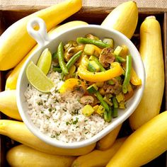 Curried Summer Vegetable Medley with Coconut Rice - Fitnessmagazine.com