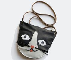 {Leather Cat Purse} Made by Hank - eep!