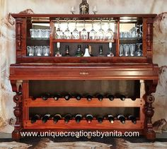 how to repurpose a piano into a bar drinks cabinet, repurposing upcycling, shelving ideas, woodworking projects, Piano repurposed into bar
