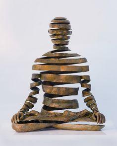 Element: Art & Design:Form - sculpture by UK artist Sukhi Barber, who spent twelve years in Kathmandu, Nepal studying Buddhist philosophy and lost-wax bronze casting. Illusion Kunst, Instalation Art, Sculpture Metal, Abstract Sculpture, Photo Sculpture, Sand Sculptures, Animal Sculptures, Art Plastique, Oeuvre D'art