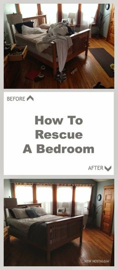 How To Rescue A Bedroom -- 20 steps to getting a mess cleared up, picked up & organized.