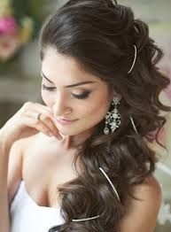 wedding hairstyles for long hair to the side - Google Search