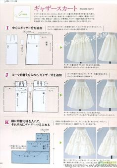 Best Ideas For Sewing Clothes Patterns Costura Dress Sewing Patterns, Clothing Patterns, Skirt Patterns, Fashion Sewing, Diy Fashion, Sewing Clothes, Diy Clothes, Japanese Sewing, Creation Couture