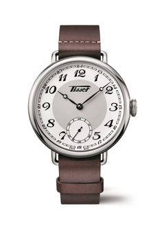 Tissot Watch Heritage 1936 Supplier Model No: Watch Fine Watches, Watches For Men, Best Looking Watches, Trends 2016, Brown Band, Leather Case, Baselworld 2016, Dress Watches, Pocket Watches