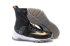 brand new a1712 20e5f Nike KD 8 Elite  Away  Black Metallic Gold-Sail Men s Basketball Shoe 2016  Release