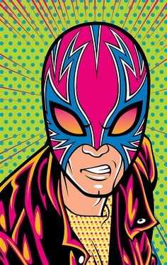 Punk Lucha Libre Wrestler Face Art