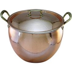 Vintage Ruffoni  Hammered Copper Stockpot, 14 Quart