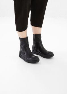 Rick Owens Black / Black Vicious Ankle Boot