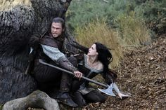 Snow White & the Huntsman - the Huntsman and Snow White