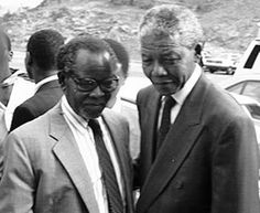 Heroes. Oliver Tambo and Nelson Mandela.