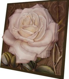 A Rosa branca na Arte Francesa. 3d Paper Art, 3d Paper Crafts, Painting On Wood, Origami, Projects To Try, Blog, Scrapbook, Drawings, Plants