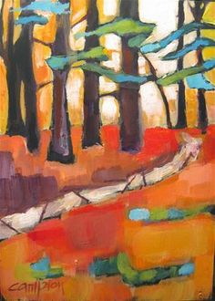 """Cedars"""" by Diane Campion Abstract Trees, Abstract Landscape, Landscape Paintings, Abstract Art, Contemporary Artists, Modern Art, Fauvism, Watercolor Trees, Botanical Drawings"""