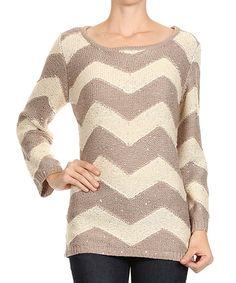 Love this chevron neutral sweater