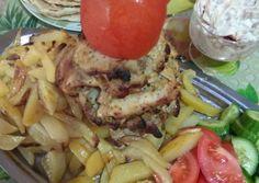 Σπιτικός γύρος κοτόπουλο Pork, Meat, Chicken, Recipes, Kale Stir Fry, Rezepte, Food Recipes, Recipies, Recipe