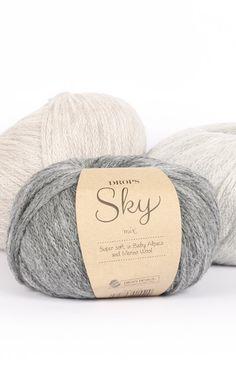 Drops Sky Yarn Group B. Raw Supplies for Knitting and Crochet. Lightweight Yarn for Garments. Drops Sky Yarn Group: B Content: Alpaca, Polyamide, Wool Yarn Group: B - 22 stitches) / 8 ply / DK Weight/yardage: oz g) = approx 208 Baby Alpaca, Thread Crochet, Crochet Yarn, Wool Yarn, Merino Wool, Sky E, Laine Drops, Garnstudio Drops, Yarn Inspiration