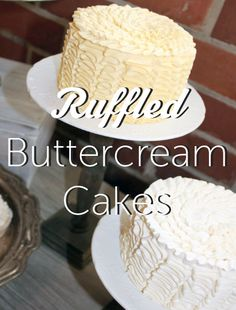 Learn to make ruffled buttercream cakes in this great tutorial! Visit the Craftsy Blog for a closer look and add a romantic touch to your next cake.