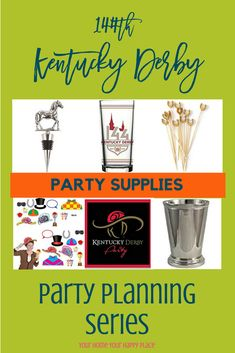 Kentucky Derby Party Supplies – Event Planning Series. Everything you need to pull of a great party will be found in this event planning series. Today's post is filled with party supplies you can purchase right from my site. www.yourhomeyourhappyplace.com affiliate links