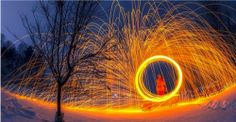 Beautifully surreal long-exposure photos of steel wool on fire [17 pictures]
