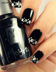 Ideas for french pedicure designs toenails polka dots Nail Designs 2015, Gel Nail Art Designs, Pedicure Designs, Black Nail Designs, Nails Design, Grey Nail Art, Dot Nail Art, Polka Dot Nails, Polka Dots