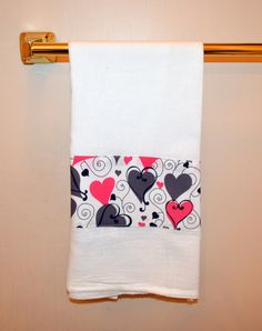 Kitchen Hand Towel Hand Towel Valentine Towel by SuesAkornShop, $7.95