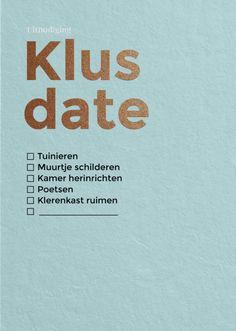 Klus date 1 | HAPPY INVITES | Happy Whatever