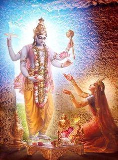 Worshiping Vishnu