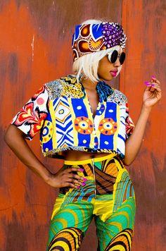 Mangishi Doll Isa Crop Top - Women African Inspired Fashion, Ethnic Fashion, I Love Fashion, Modern Fashion, African Fashion, Bohemian Fashion, Fashion Ideas, African Attire, African Wear